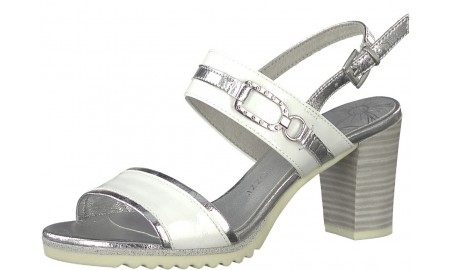 Marco Tozzi White Comb Sandals