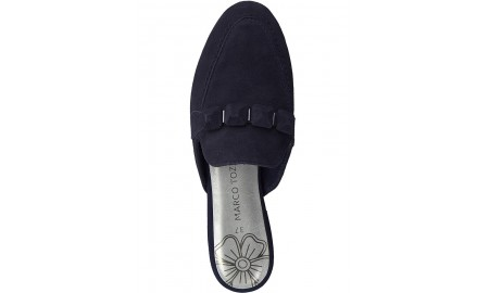 Marco Tozzi Navy Suede Slider