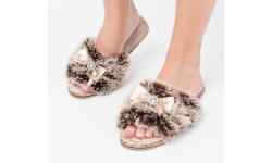 Pia Rossini Josie Slippers - Taupe