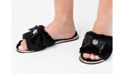 Pia Rossini Josie Slippers - Black