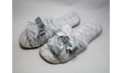 Pia Rossini Josie Slippers - Silver Grey