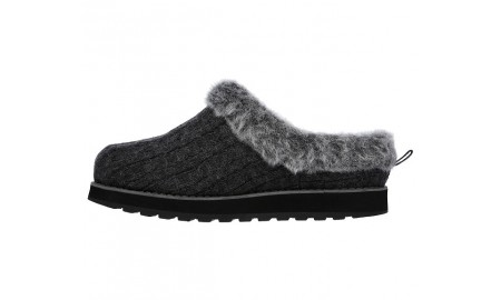 Skechers - Bob Keepsakes - Ice Storm Slippers - Charcoal