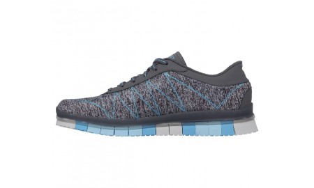 Skechers Go Walk Flex - Ability - Charcoal & Turquoise