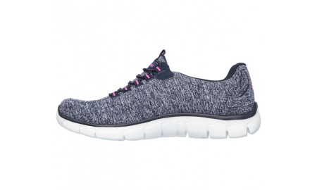 Skechers Empire - Heart To Heart - Navy & Hot Pink