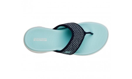 Skechers On-The-GO 600 - Glossy - Navy & Aqua