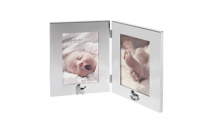 Silver Plated Double Photograph Frame