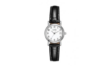 Citizen Ladies Black Leather Strap Watch