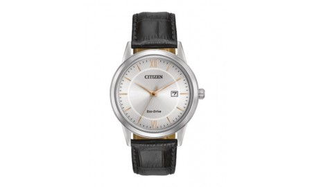 Citizen Gents Black Leather Strap Watch