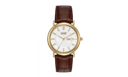 Citizen Gents Brown Leather Strap Watch