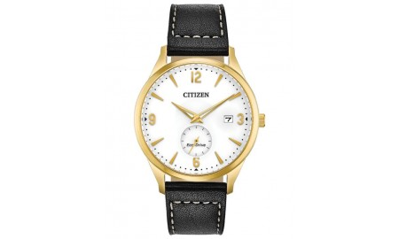 Citizen Gent's Black Leather Strap Watch